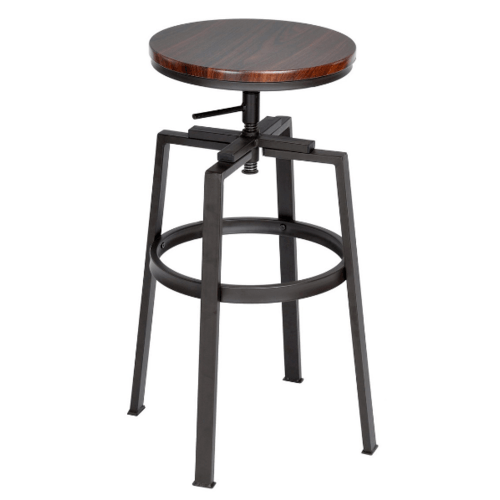 Delicato เก้าอี้บาร์สตูล  Amat   สีวอลนัท