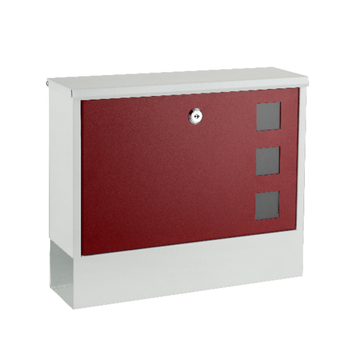 HATO ตู้จดหมาย W1512 สีขาว-แดง