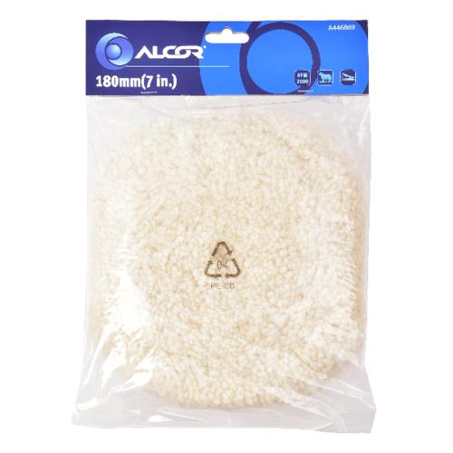 ALCOR แผ่นขัดเงาขนแกะ 180MM.   A446869 สีขาว
