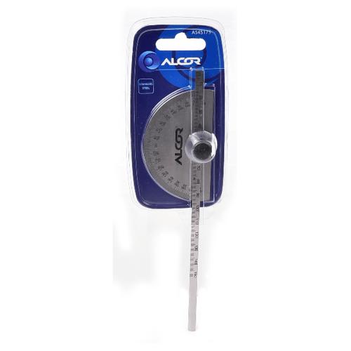 ALCOR ไม้บรรทัดครึ่งวงกลม  A545175 สีขาว