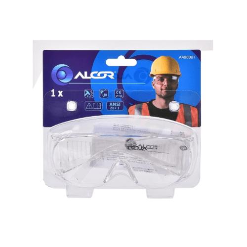 ALCOR แว่นตากันสะเก็ดแบบใส A480001 สีดำ