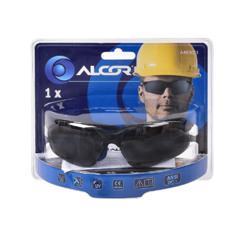 ALCOR แว่นตากันสะเก็ดแบบกระจก  A480023 สีดำ