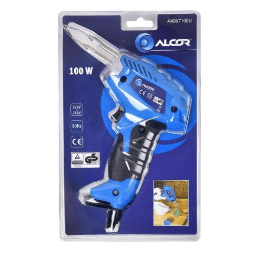ALCOR ปืนหัวแร้ง 100W. A406710EU  สีน้ำเงิน