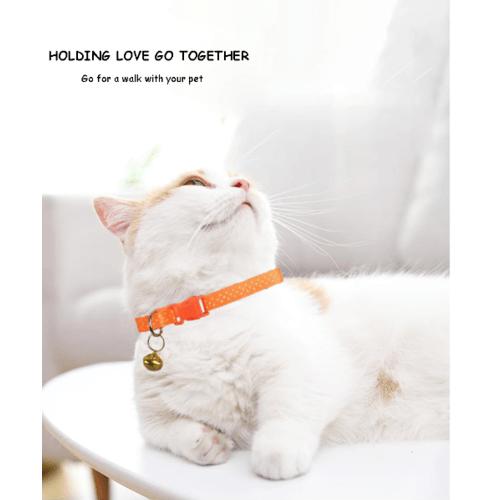 DUDUPETS ปลอกคอแมวปรับได้ มีกระดิ่ง ขนาด 1.0x18x0.2ซม.   PT022 สีแดง