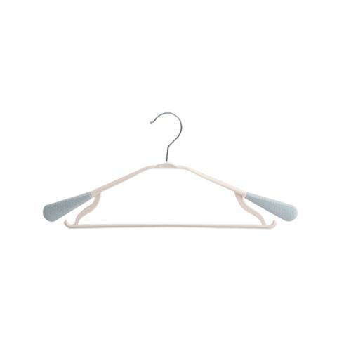 SAKU ไม้แขวนเสื้อพลาสติกกันลื่น  บรรจุ 10 ชิ้น/แพ็ค  AN02 สีฟ้า