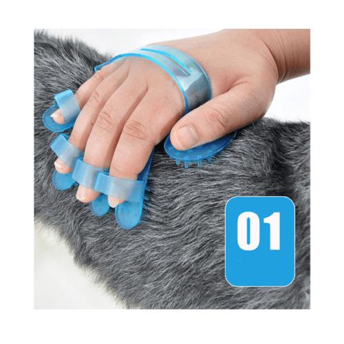 DUDUPETS แปรงยางอาบน้ำสัตว์เลี้ยง   ขนาด 11x11x0.5ซม.   GR009 สีฟ้า