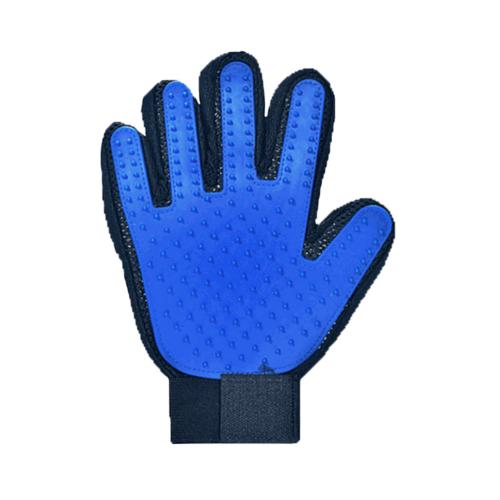 DUDUPETS ถุงมือแปรงขนสัตว์เลี้ยงข้างขวา ขนาด 13x24x1ซม.  GR013 สีฟ้า