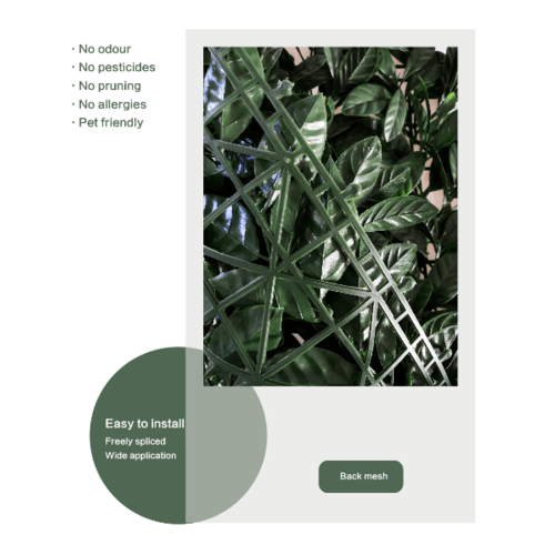 Tree O ต้นไม้เทียมติดผนัง ขนาด 50×50×3  ซม.  MZ188006B สีเขียว