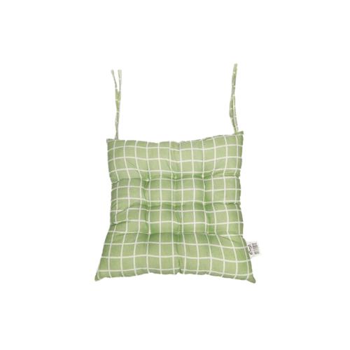 COZY  เบาะรองนั่งสี่เหลี่ยม ขนาด 40×40×5ซม.  CX04 สีเขียว