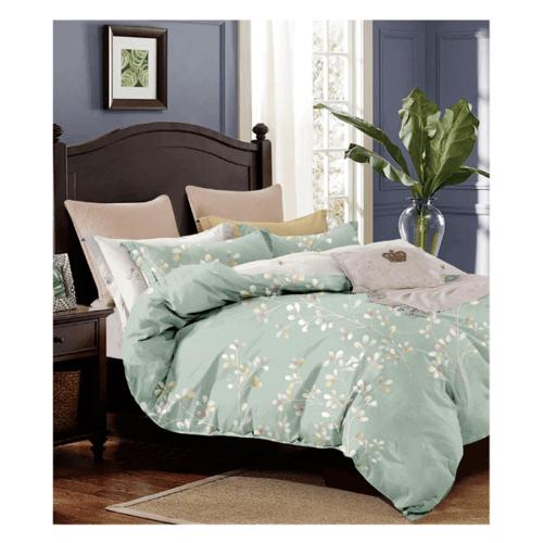 Truffle Essential  ชุดผ้าปูที่นอน 4 ชิ้น ขนาด 6 ฟุต  JZ43 สีเขียว