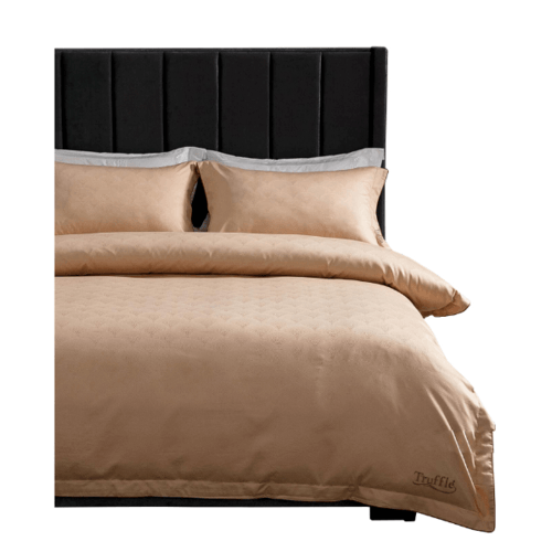 Truffle ชุดผ้าปูที่นอนcotton 100% 4ชิ้น  ขนาด 6 ฟุต   106-1-1 สีชมพู