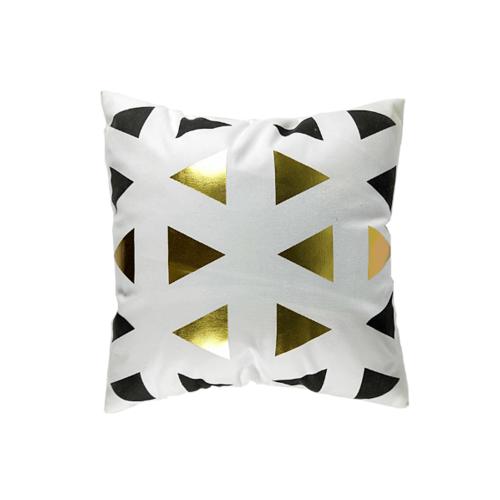 COZY หมอนอิง ขนาด 43×43×8ซม.  CY14 สีดำ-ทอง