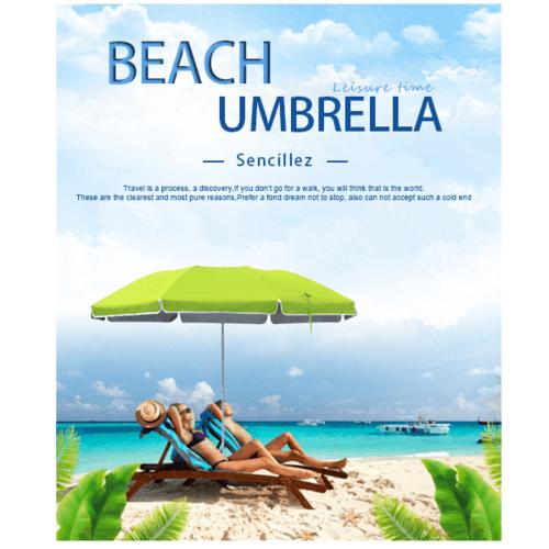 SUMMER SET  ร่มชายหาด Sencillez ขนาด 180×180×180ซม.   JM18G สีเขียว