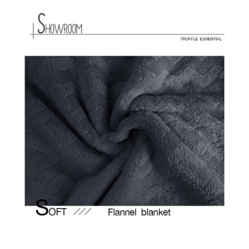 Truffle Essential   ผ้าห่ม FRIEDA ขนาด 150x200 ซม.  FR-02 สีเทาเข้ม