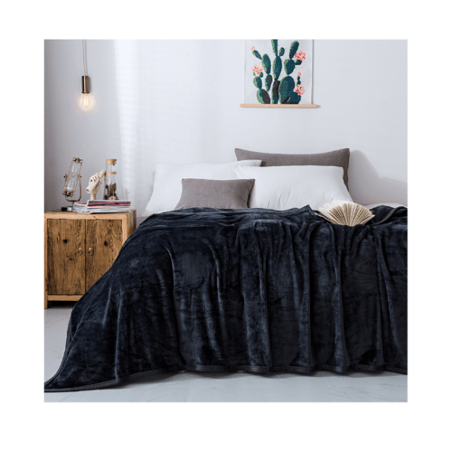 Truffle Essential  ผ้าห่ม MOSES ขนาด  150x200  ซม  MS-02 สีน้ำเงินเข้ม