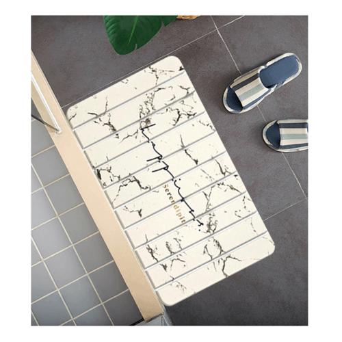 COZY พรมหินเช็ดเท้า แบบพับได้ ขนาด 39x60x0.9 ซม.   WY01 สีขาว