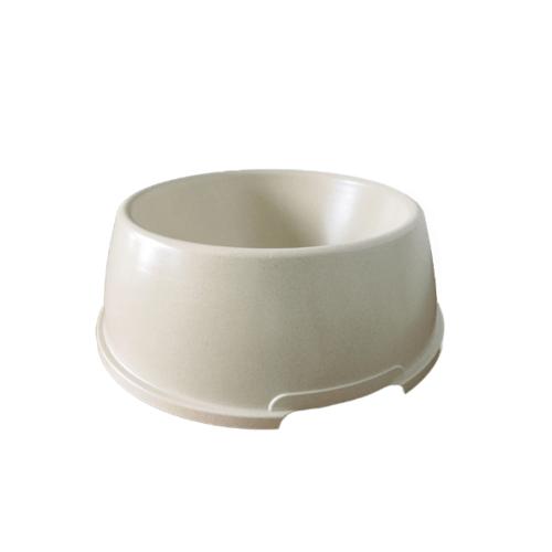 DUDUPETS  ชามอาหารพลาสติก ไซส์ XL  ขนาด 25×35×10ซม.  LY001XL สีเบจ