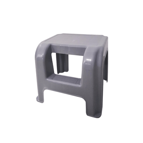 HUMMER บันไดพลาสติก 2 ขั้นขนาด 33.5x32x30.4ซม. LF001 สีเทา