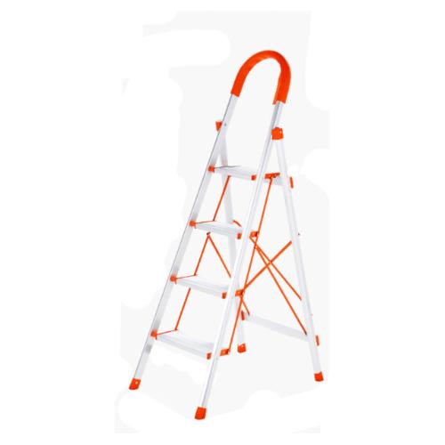 HUMMER บันไดอลูมิเนียมมือจับ 4 ขั้น ขนาด 42x68x131ซม. LF010 สีส้ม