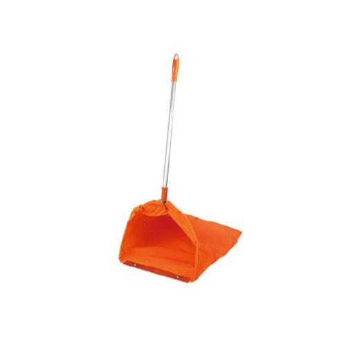 ICLEAN ที่เก็บขยะด้ามอลูมิเนียม ขนาด22x26x92ซม.  HQ-7005 สีส้ม