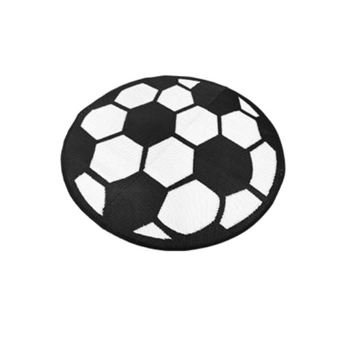 COZY เสื่อปูพื้นอเนกประสงค์กลม  ขนาด 150x150x0.5 ซม. สีขาว ดำ R204