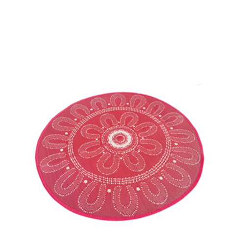 COZY เสื่อปูพื้นอเนกประสงค์กลม ขนาด 150x150x0.5 ซม. ปูได้สองหน้า สีแดง ครีม R205 สีแดง