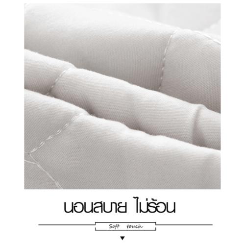 Truffle ผ้าคลุมที่นอนแบบกันน้ำกันไรฝุ่น ขนาด 150×200×25ซม.   JS02  สีขาว