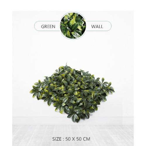 Tree O ต้นไม้เทียมติดผนัง ขนาด 50×50×3 ซม. MZ188006A สีเขียว