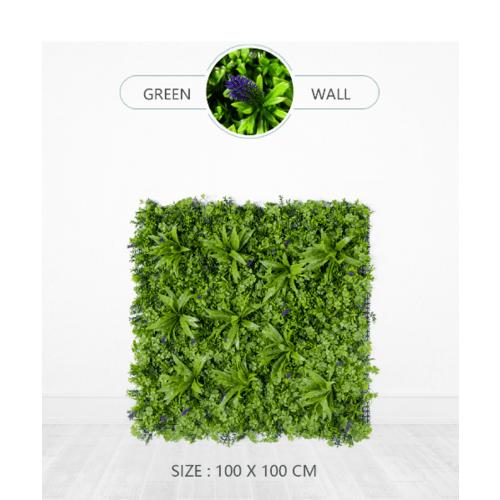 Tree O ต้นไม้เทียมติดผนัง ขนาด 100×100×5 ซม.   MZ189003A สีเขียว
