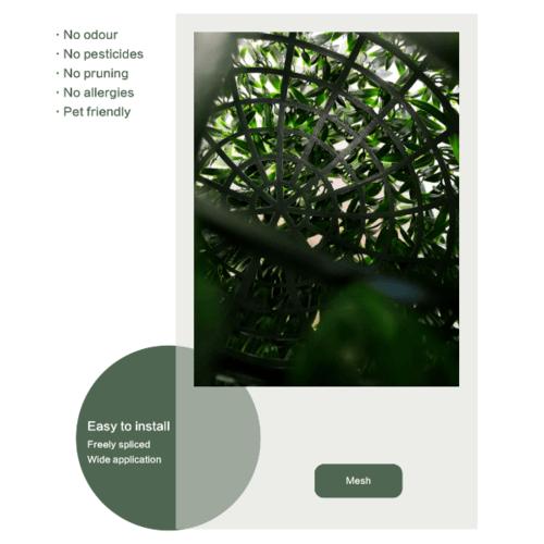 Tree O ต้นไม้เทียมทรงกลม ขนาด 33×33×33 ซม. MZ185008A สีเขียว