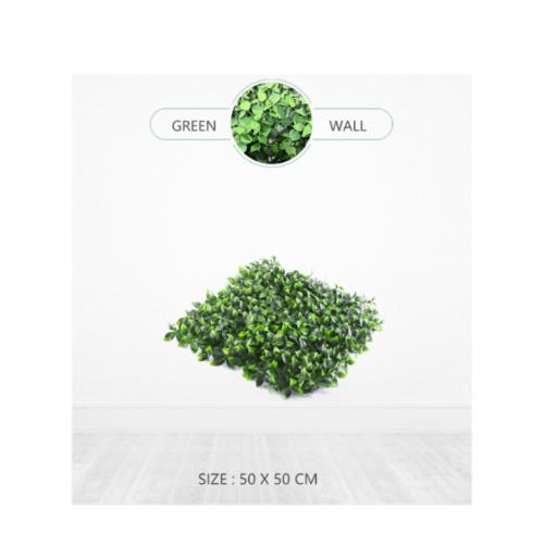 Tree O ต้นไม้เทียมติดผนัง ขนาด 50×50×3 ซม.  MZ188024C สีเขียว