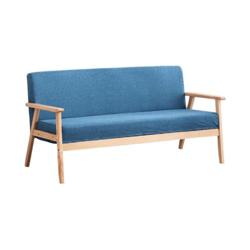Divano โซฟาผ้า 3 ที่นั่ง 65X155X71CM   MH006  สีน้ำเงิน