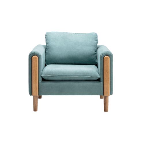Divano โซฟาผ้า 1 ที่นั่ง ขนาด 76X83X75CM  M8818 สีเขียว
