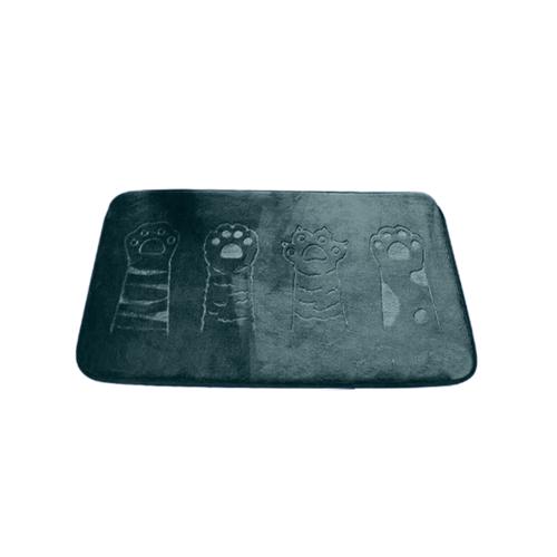 COZY พรมเช็ดเท้าเมมโมรี่โฟม ขนาด 50×80×1.2ซม.  JS02 สีน้ำเงิน