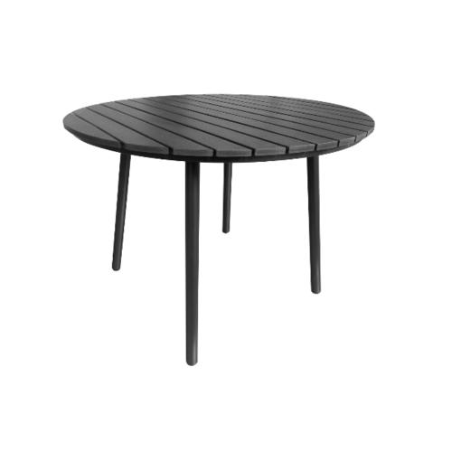 Delicato โต๊ะสนาม 4 ที่นั่ง ขนาด 100×100×74ซม.  HB11 สีดำ