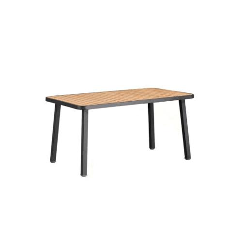 Delicato โต๊ะสนาม 4 ที่นั่ง ขนาด 85×150×74ซม.  HB15  สีไม้