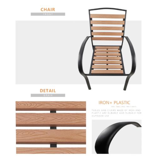 Delicato  เก้าอี้สนาม  ขนาด 56*68*87 ซม  HB02 สีไม้