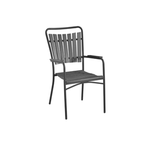 Delicato  เก้าอี้สนาม ขนาด52×63×93ซม. HB18 สีดำ