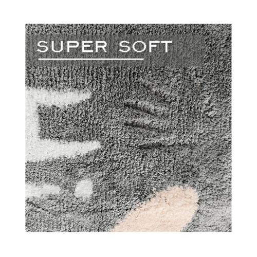 COZY พรมเช็ดเท้า ขนาด 50×80×1.5ซม. DK22 สีเทา