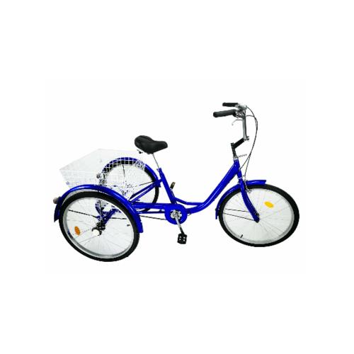 MASDECO จักรยานสามล้อผู้ใหญ่ ขนาด 24 นิ้ว ตระกร้าใหญ่   BL002BL สีน้ำเงิน
