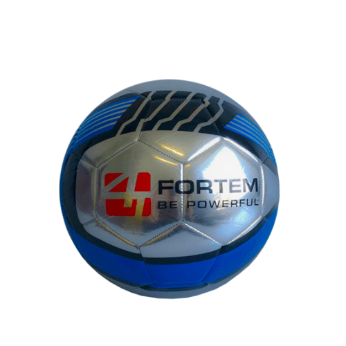4TEM ลูกฟุตบอลหนังเย็บ TPU เบอร์ 5 ขนาด  Φ21.5 ซม. GY-353 สีเทา-น้ำเงิน แถมเข็มก๊าซ