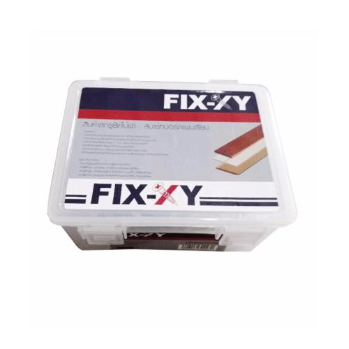 FIX-XY สกรูยึดไม้ฝา ปลายแหลม # 7 ยาว 32 มม.  สีโครเมี่ยม