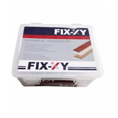 FIX-XY สกรูยึดไม้ฝา-แผ่นเรียบ ปลายสว่าน ( ไม่มีปีก )  8 ยาว 25 มม. (กล่อง)