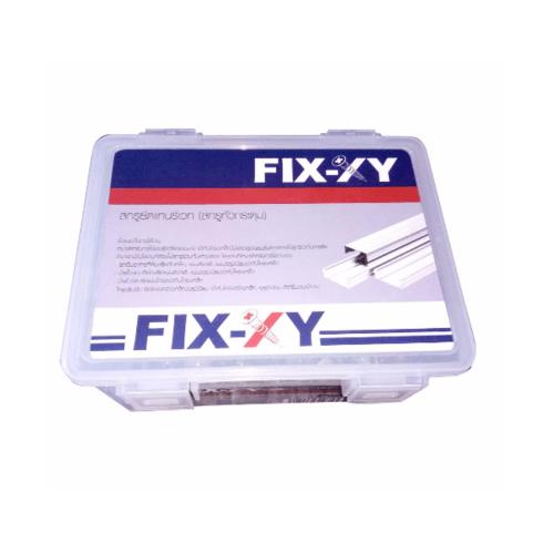 FIX-XY สกรูยึดแทนรีเวท ปลายสว่าน  # 8 ยาว 25 มม.  สีโครเมี่ยม