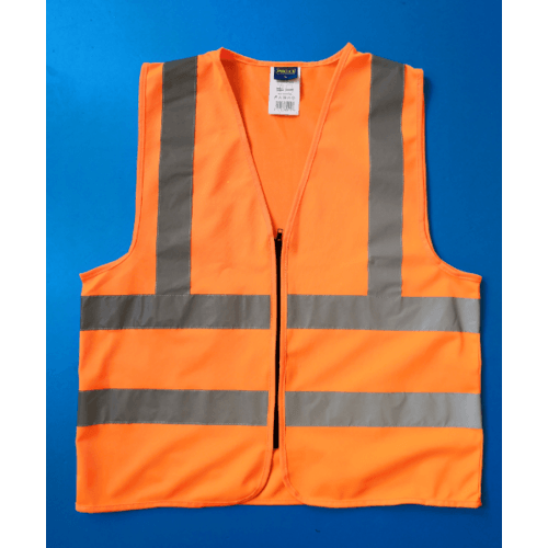 Protx เสื้อจราจรสะท้อนแสง  Z0007-J2M ขนาด M สีส้ม