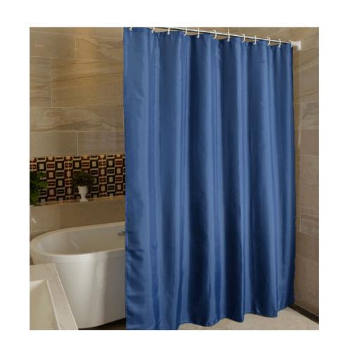 PRIMO ม่านห้องน้ำโพลีเอสเตอร์   DDF010-BU ขนาด 180x180 cm สีน้ำเงินเข้ม