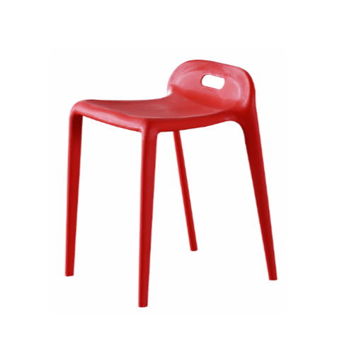 Delicato เก้าอี้โมเดิร์นพลาสติก  KML-026-RD สีแดง