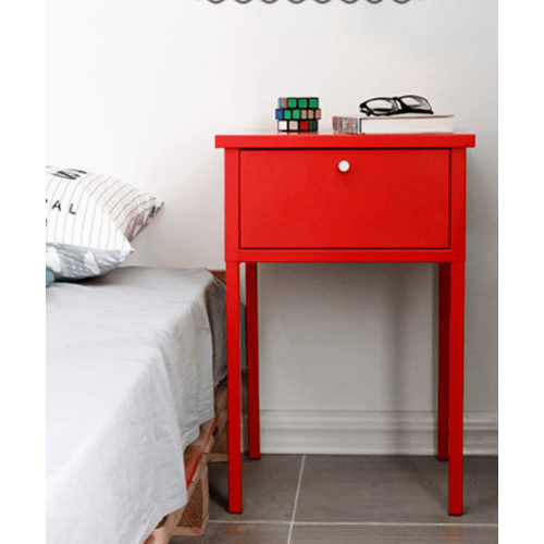 Divano โต๊ะข้างเตียง ขนาด 40x60 ซม. ZSDL007-RD สีแดง