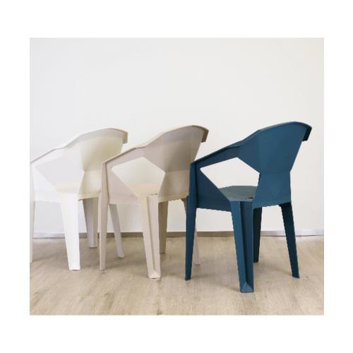 Pulito เก้าอี้ทรงเรขาคณิต  GGW002-WH สีขาว