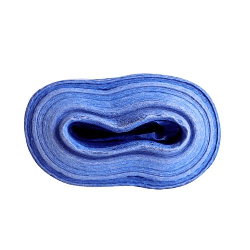 POLLO ผ้าพลาสติกสาน  72x60y สีฟ้า-ขาว